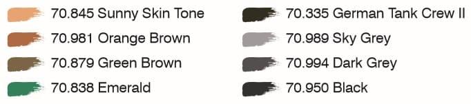 Enthaltene Farben